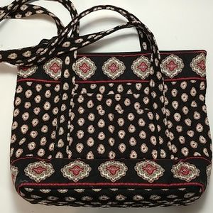 Vera Bradley Paisley red black white purse